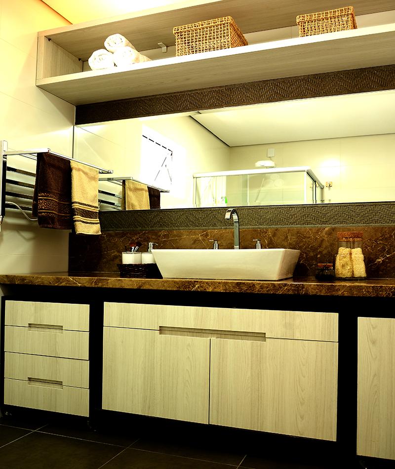 Banheiro suíte casal – Residência Pinheiro Machado – Santiago/RS
