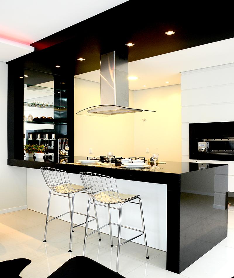 Cozinha gourmet - Área de lazer de Residência Cotinha Genro - Santiago/RS