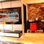Estar e bar –  Residência Rua Independência – Santiago/RS