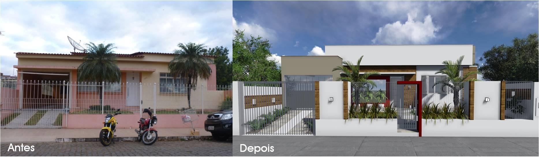 antes e depois de fachada