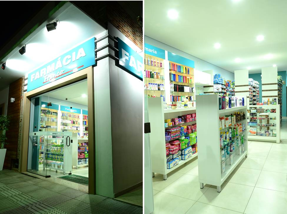 iluminação farmácia